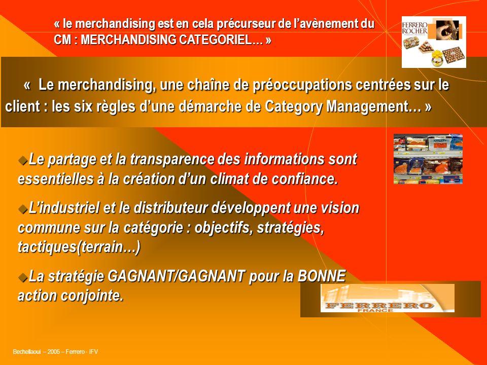 « le merchandising est en cela précurseur de l'avènement du CM : MERCHANDISING CATEGORIEL… »