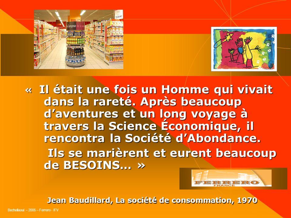 Jean Baudillard, La société de consommation, 1970
