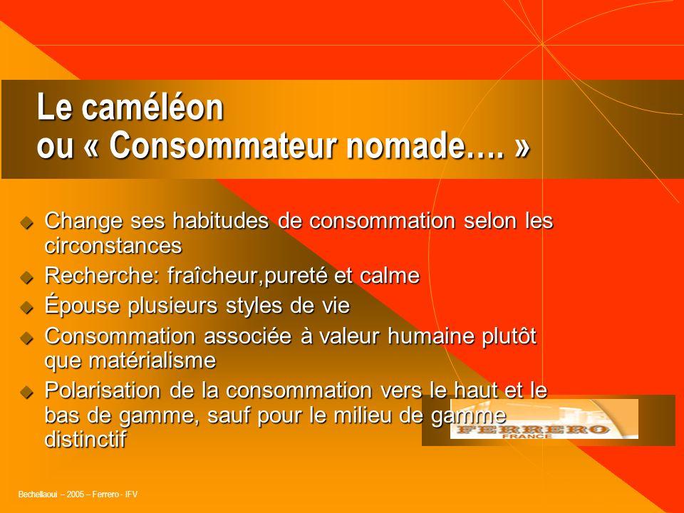 Le caméléon ou « Consommateur nomade…. »