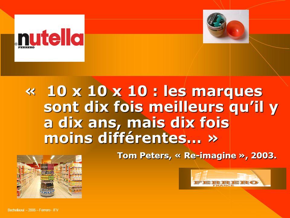 « 10 x 10 x 10 : les marques sont dix fois meilleurs qu'il y a dix ans, mais dix fois moins différentes… »
