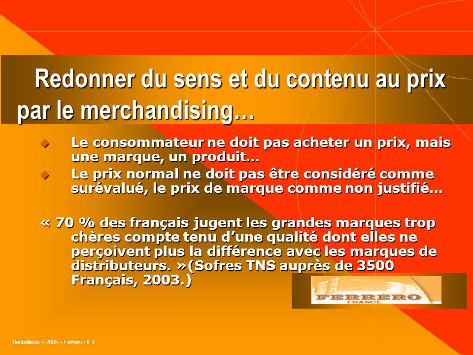 Redonner du sens et du contenu au prix par le merchandising…