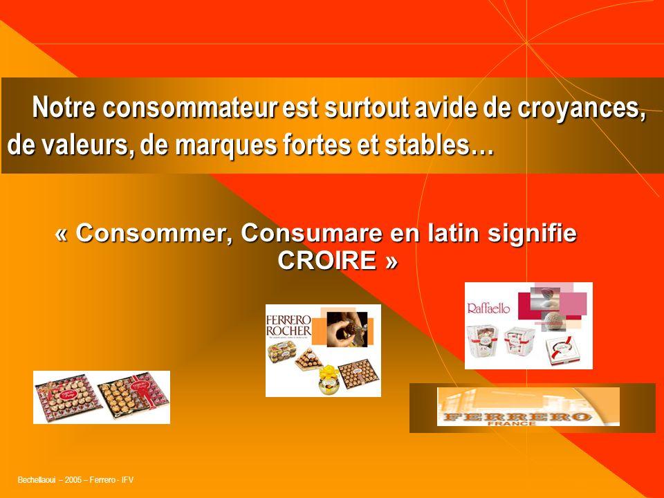 « Consommer, Consumare en latin signifie CROIRE »
