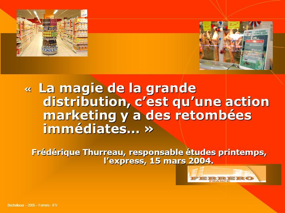 « La magie de la grande distribution, c'est qu'une action marketing y a des retombées immédiates… »