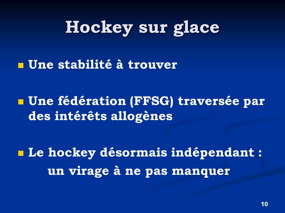 Hockey sur glace Une stabilité à trouver