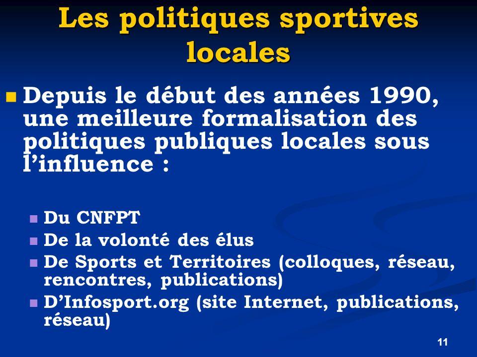 Les politiques sportives locales