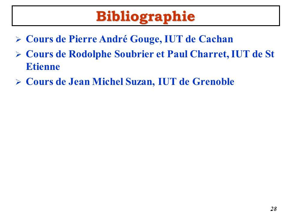 Bibliographie Cours de Pierre André Gouge, IUT de Cachan