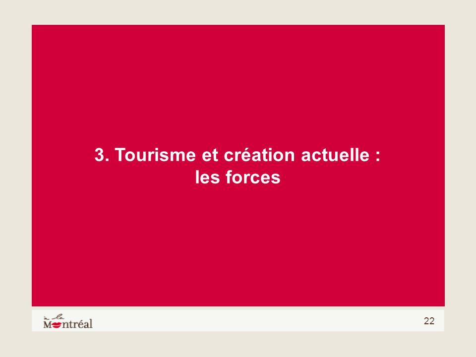 3. Tourisme et création actuelle :
