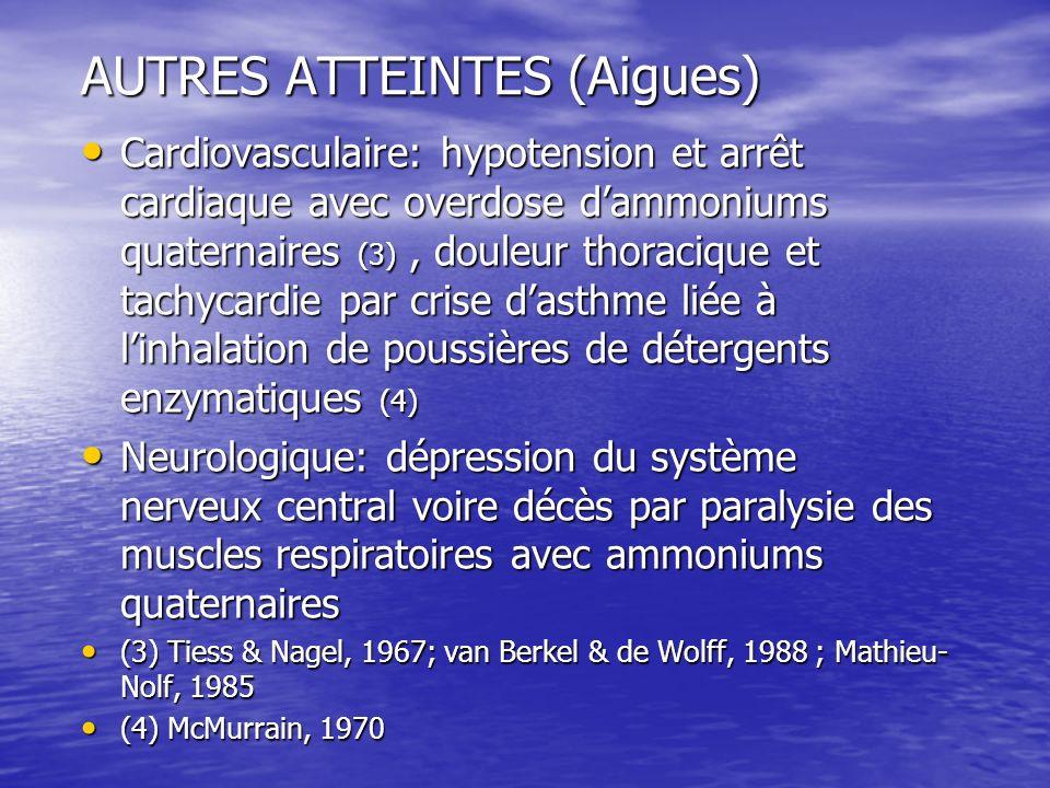 AUTRES ATTEINTES (Aigues)