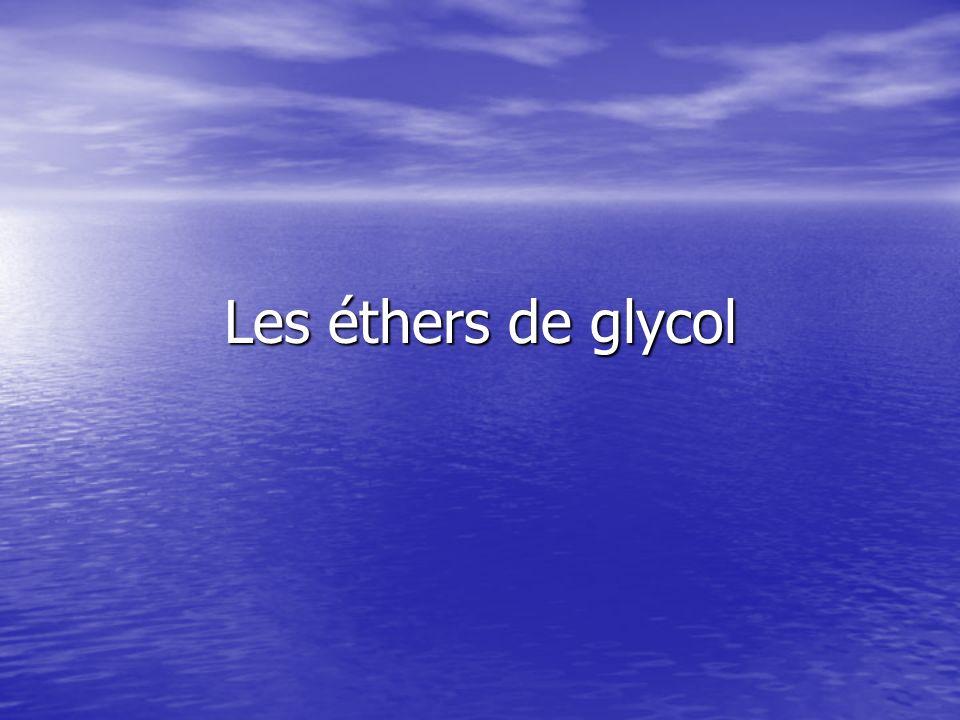 Les éthers de glycol