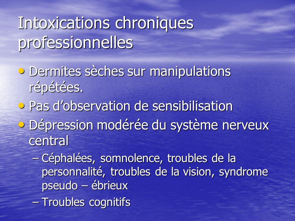 Intoxications chroniques professionnelles