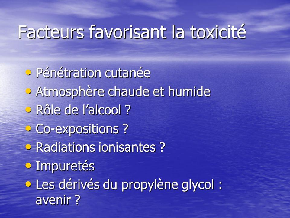 Facteurs favorisant la toxicité
