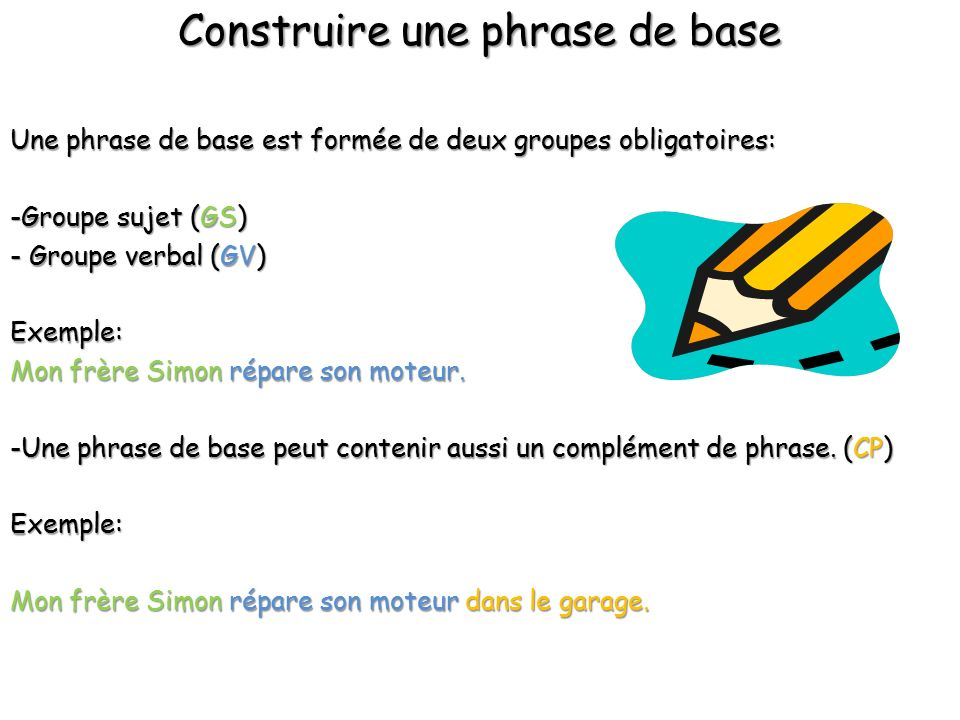 Construire une phrase de base ppt video online t l charger for Construire online