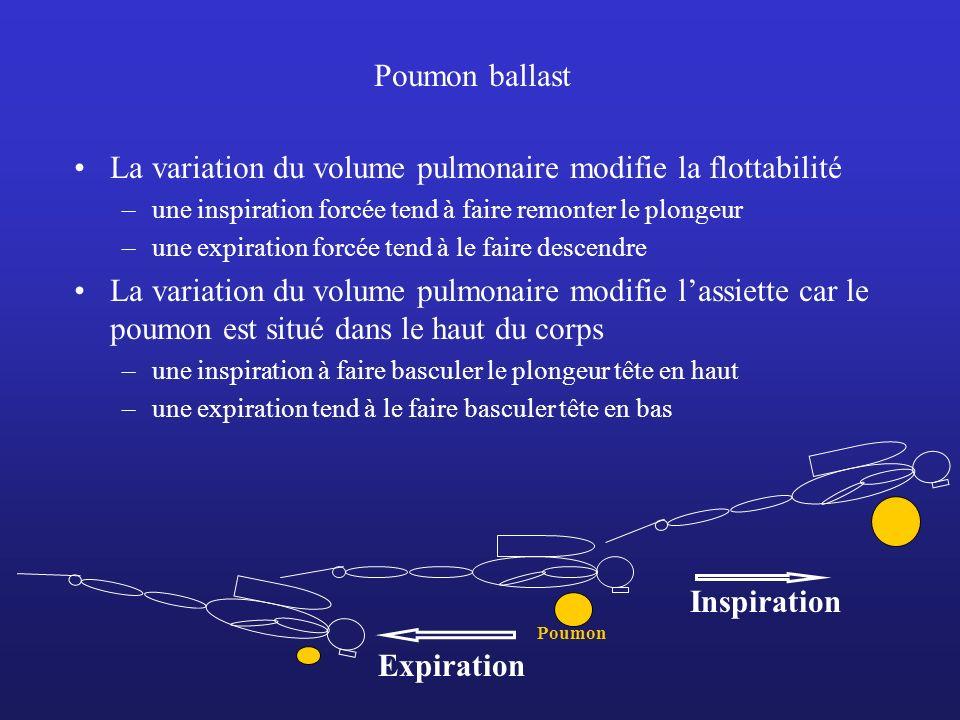 La variation du volume pulmonaire modifie la flottabilité
