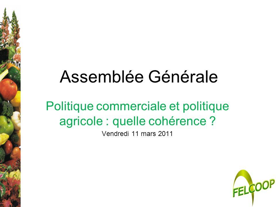 Politique commerciale et politique agricole : quelle cohérence