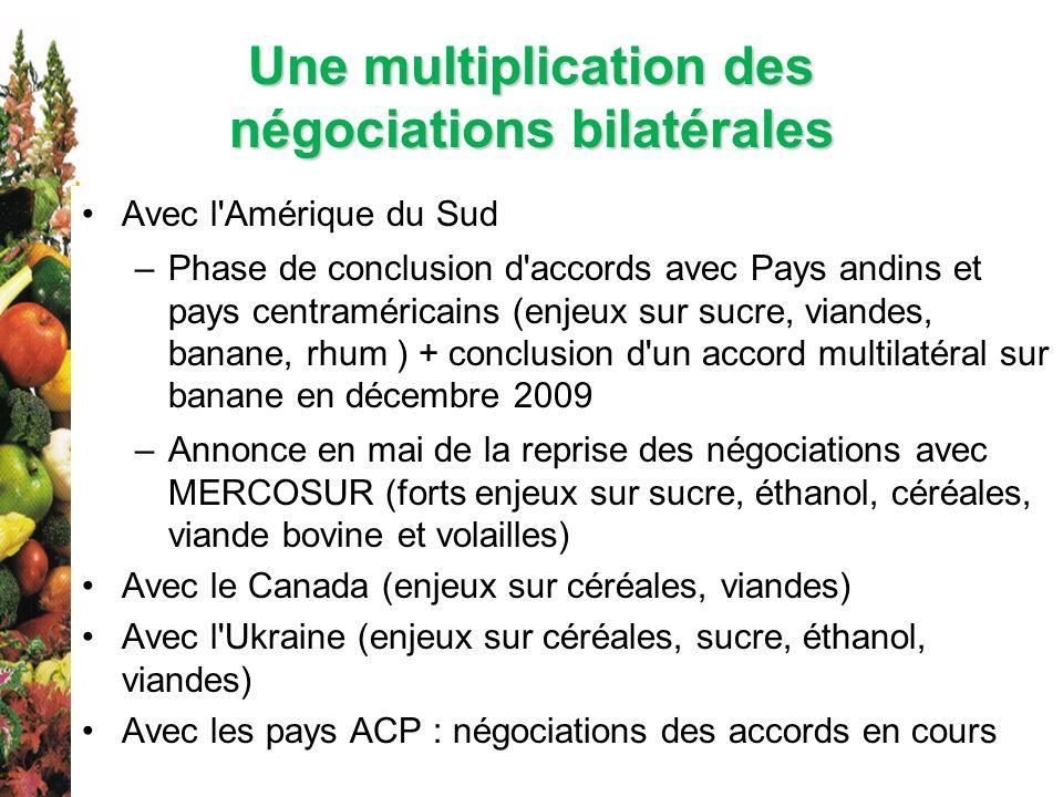 Une multiplication des négociations bilatérales