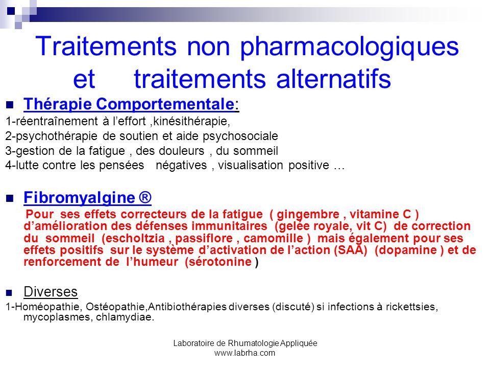 Traitements non pharmacologiques et traitements alternatifs