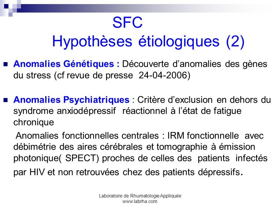 SFC Hypothèses étiologiques (2)