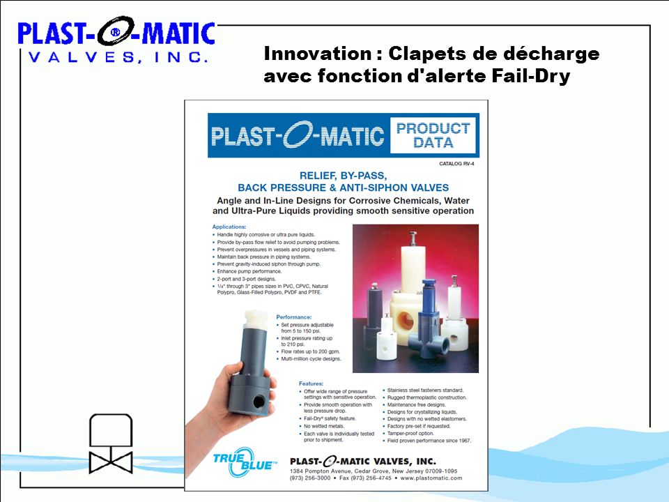 Innovation : Clapets de décharge avec fonction d alerte Fail-Dry