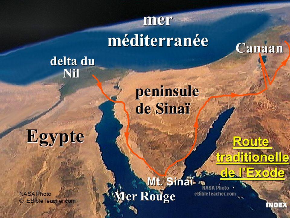 Egypte mer méditerranée peninsule de Sinaï Canaan delta du Nil Route
