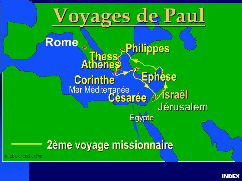 Paul-2ème voyage missionnaire
