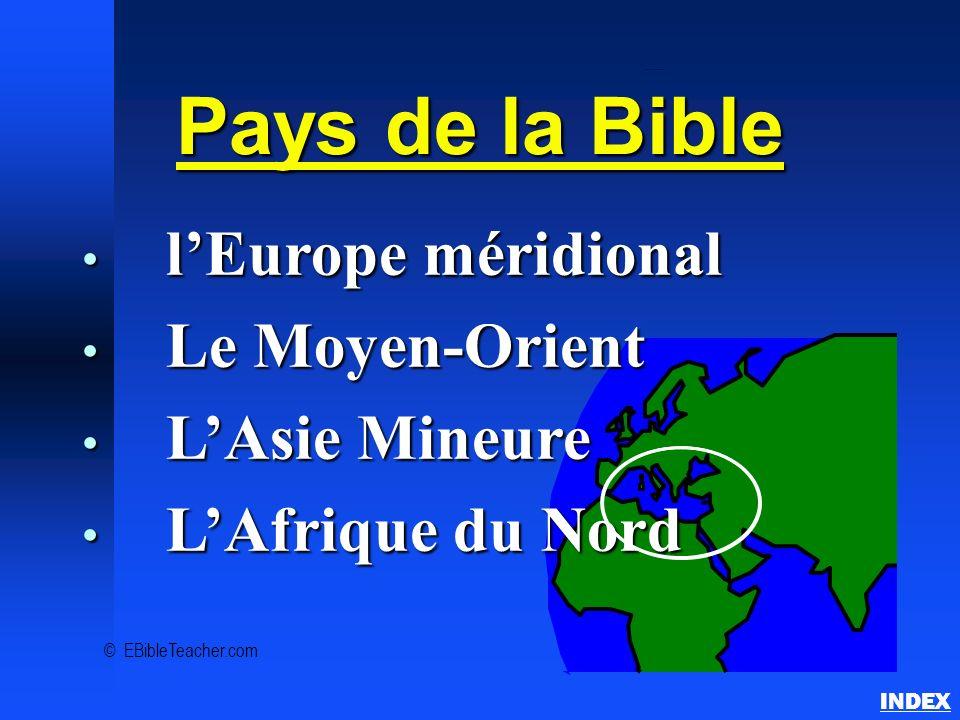 Vue d'ensemble des pays bibliques