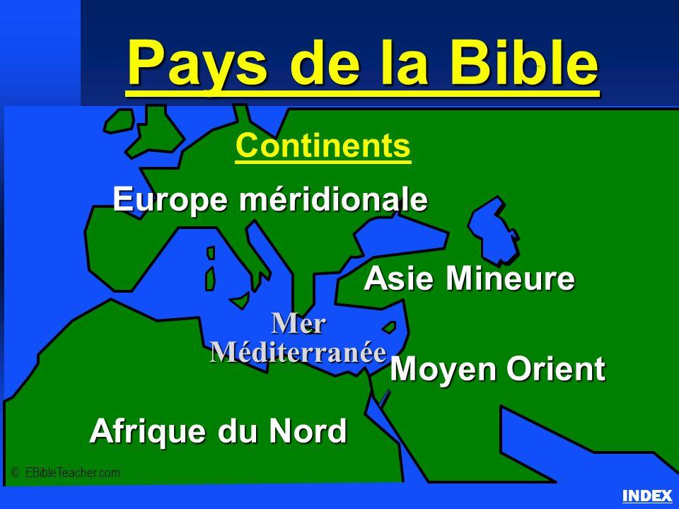 Pays de la Bible Continents Europe méridionale Asie Mineure