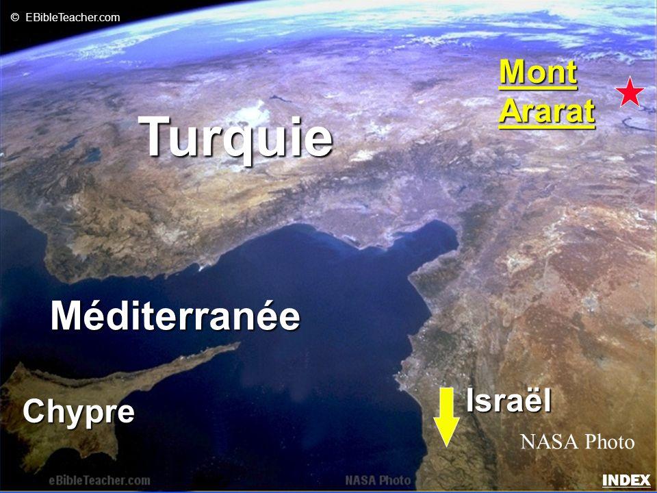 Turquie Méditerranée Mont Ararat Israël Chypre NASA Photo INDEX