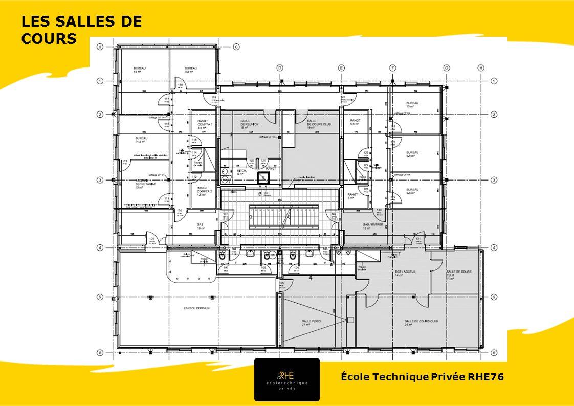 LES SALLES DE COURS École Technique Privée RHE76