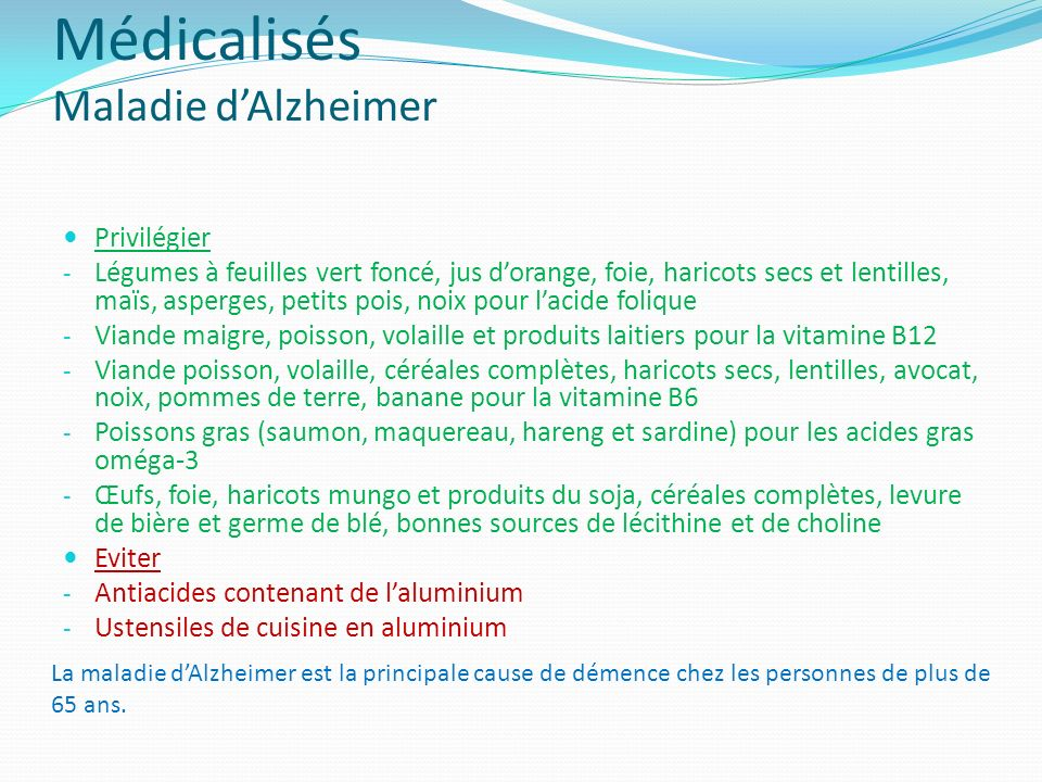 Médicalisés Maladie d'Alzheimer