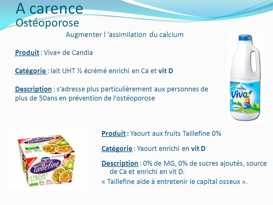 Augmenter l 'assimilation du calcium