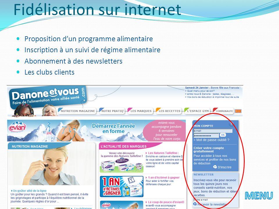 Fidélisation sur internet