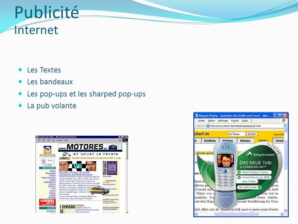 Publicité Internet Les Textes Les bandeaux
