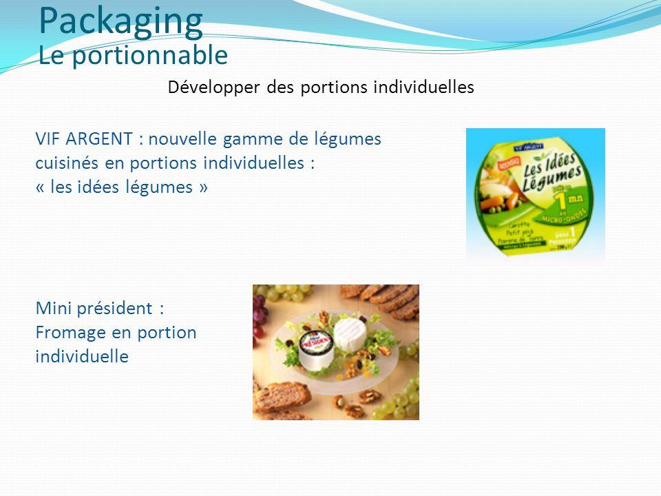 Développer des portions individuelles