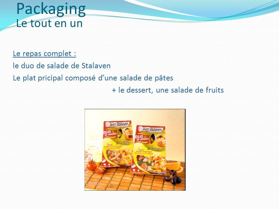 Packaging Le tout en un Le repas complet :