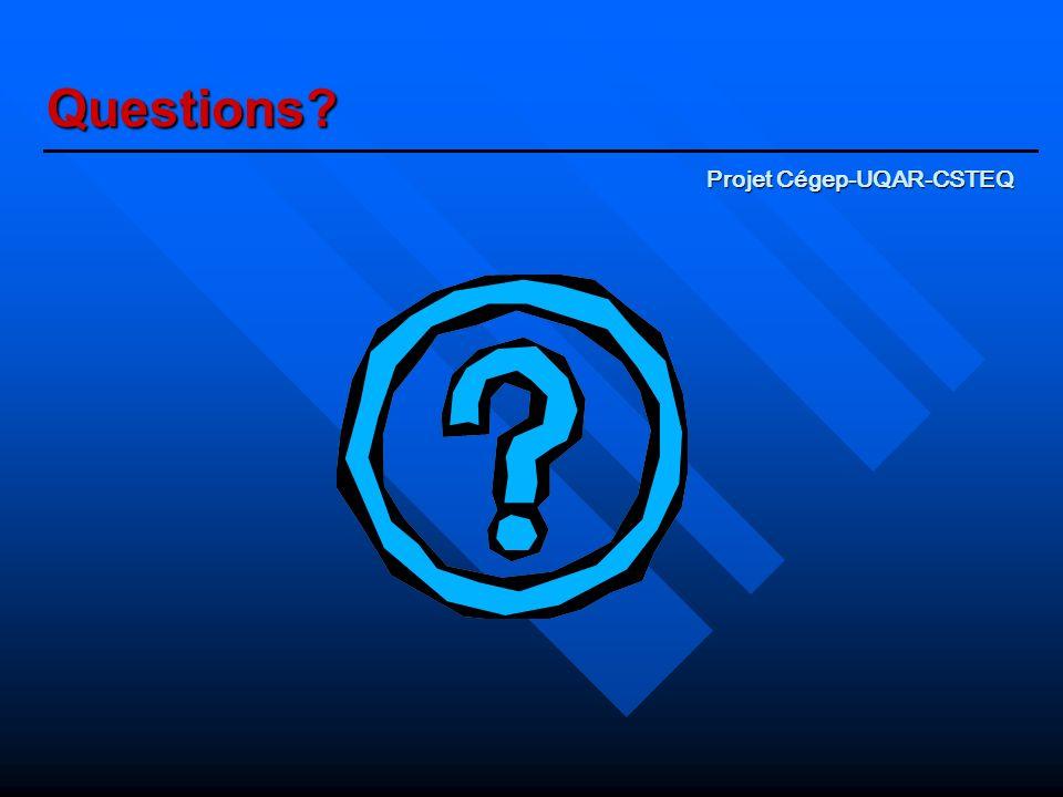 Questions Projet Cégep-UQAR-CSTEQ