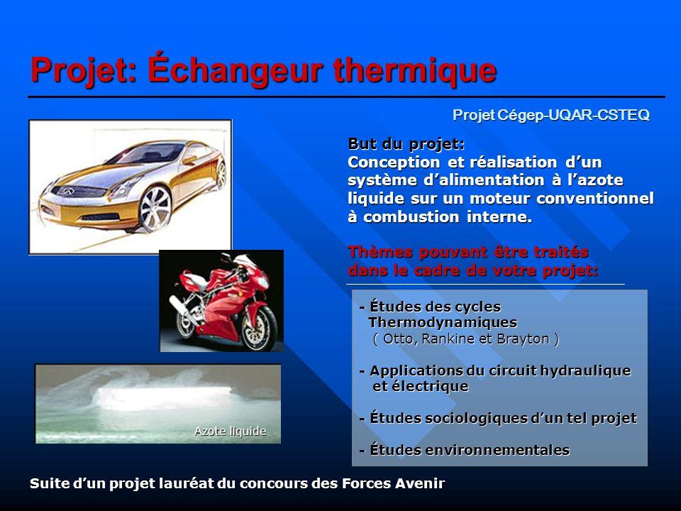 Projet: Échangeur thermique
