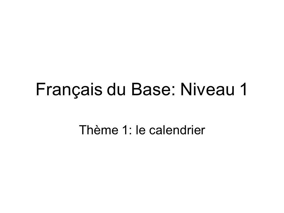 Français du Base: Niveau 1