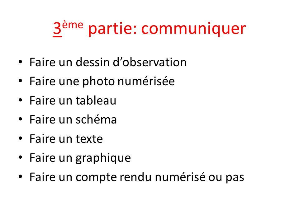 3ème partie: communiquer