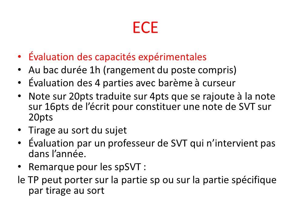 ECE Évaluation des capacités expérimentales