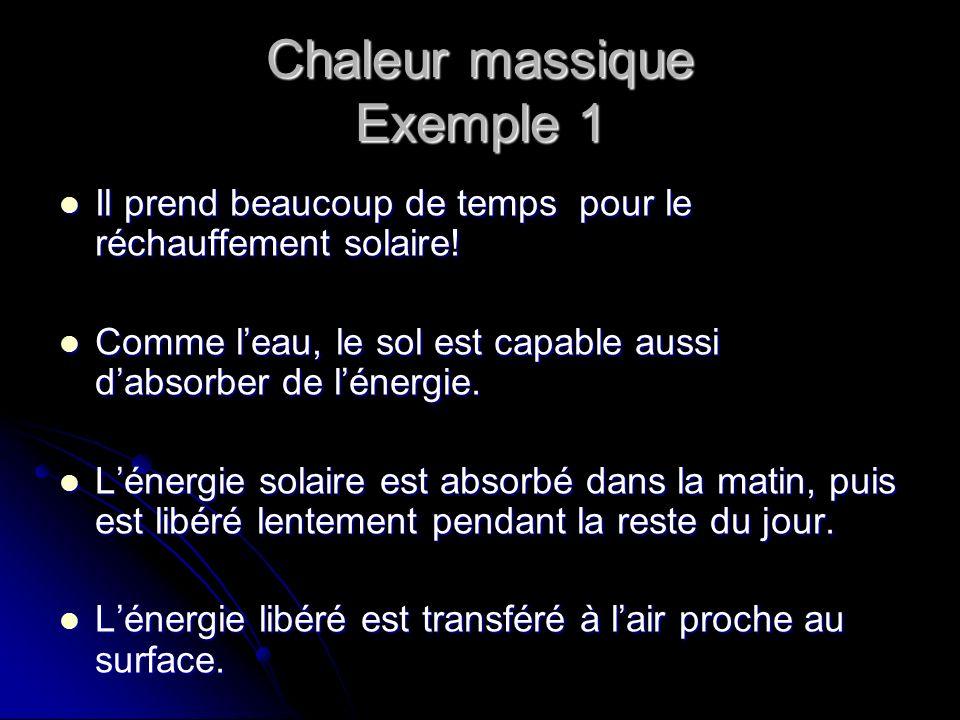 Chaleur massique Exemple 1