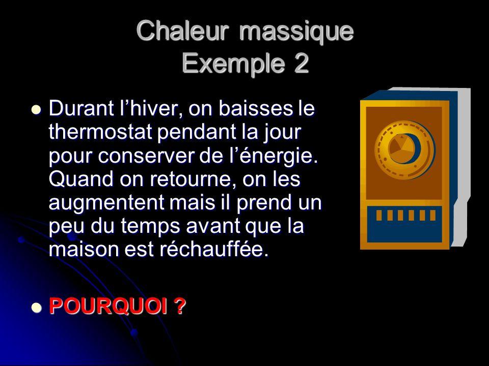 Chaleur massique Exemple 2