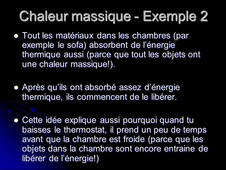 Chaleur massique - Exemple 2