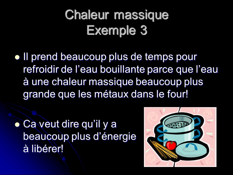 Chaleur massique Exemple 3
