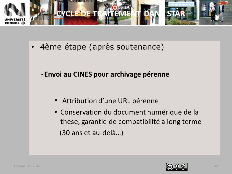 CYCLE DE TRAITEMENT DANS STAR