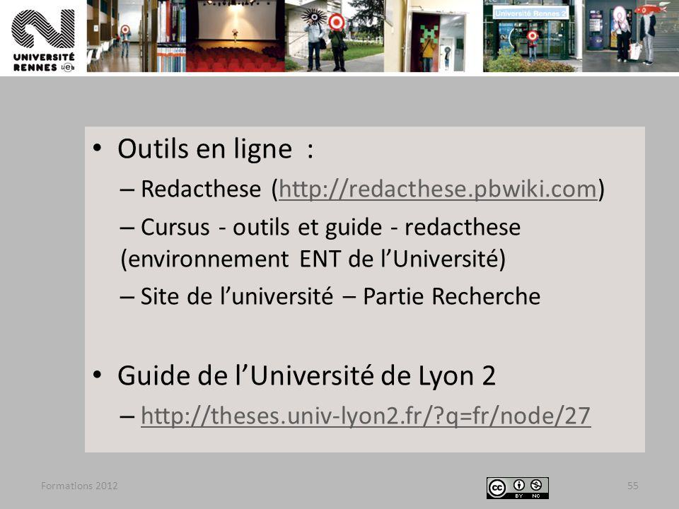 Guide de l'Université de Lyon 2
