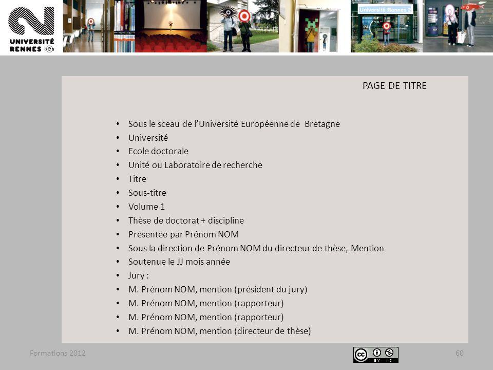 PAGE DE TITRE Sous le sceau de l'Université Européenne de Bretagne
