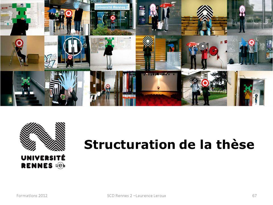Structuration de la thèse