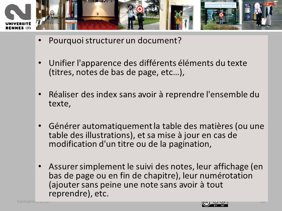 Pourquoi structurer un document
