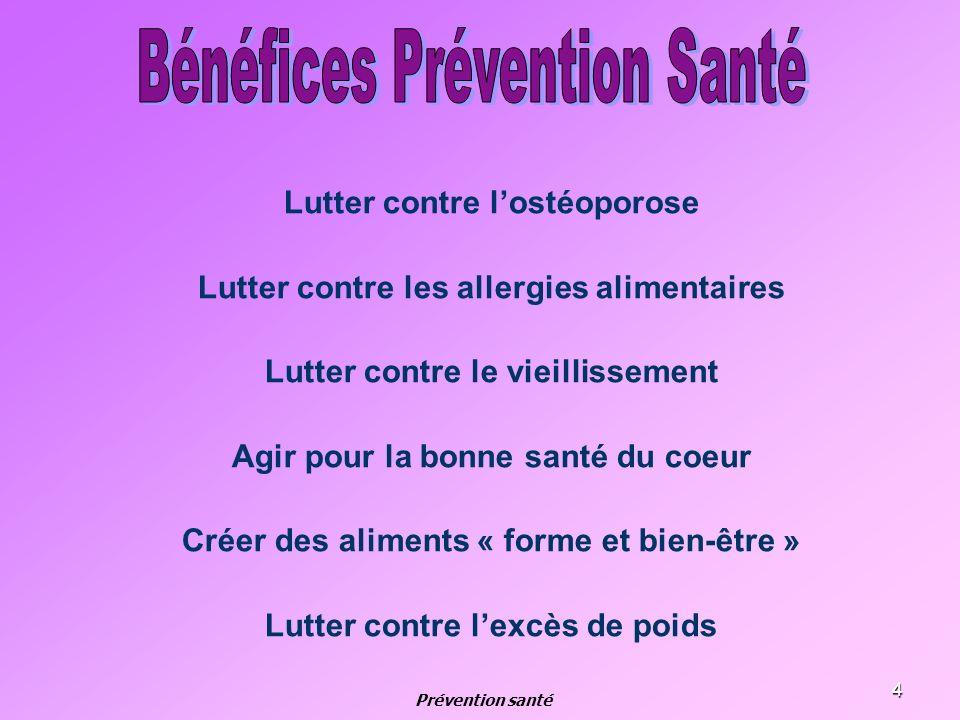 Bénéfices Prévention Santé