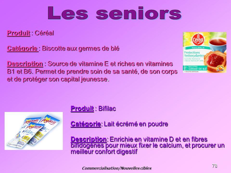 Commercialisation/Nouvelles cibles
